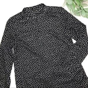 ANN TAYLOR | sz 12 black dot popover